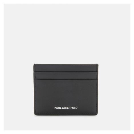 KARL LAGERFELD Women's K/Ikonik 3D Pin Card Holder - Black