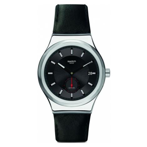 Mens Swatch Petite Seconde Black Automatic Watch