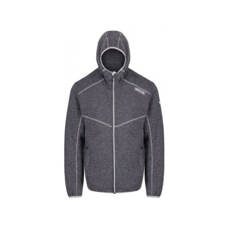 Regatta Luzon Hooded Wool Effect Fleece Grey men's Fleece jacket in Grey
