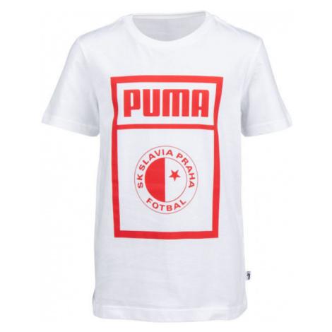 Puma SLAVIA PRAGUE GRAPHIC TEE JR white - Children's T-shirt