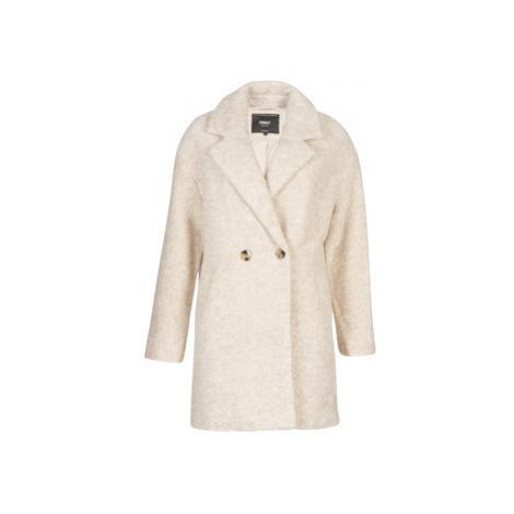Only ONLNINA women's Coat in Beige