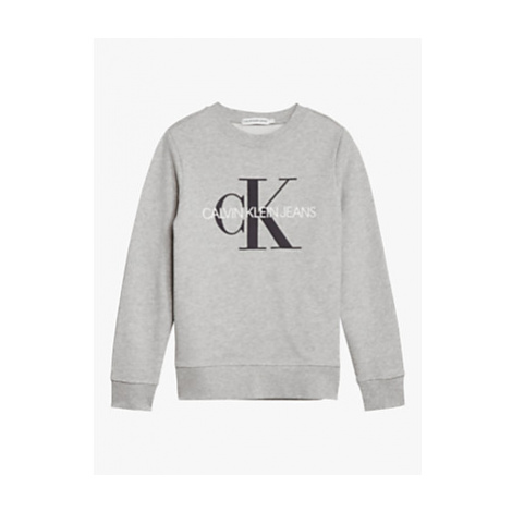 Calvin Klein Boys' Organic Cotton Monogram Logo Sweatshirt