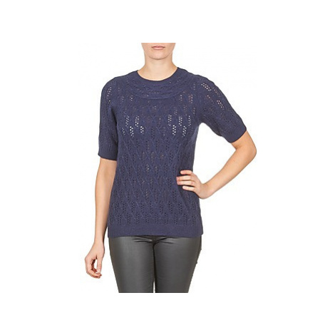 Gant C. POINTELLE TOP women's Sweater in Blue