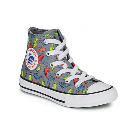 Converse CHUCK TAYLOR ALL STAR DINOVERSE HI boys's Children's Shoes (High-top Trainers) in Grey