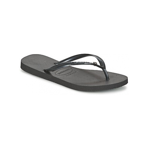 Havaianas SLIM CRYSTAL GLAMOUR women's Flip flops / Sandals (Shoes) in Black
