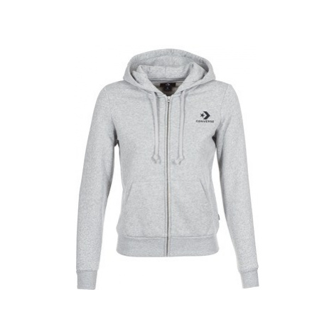 Converse CONVERSE STAR CHEVRON EMBROIDERED FZ HOODIE women's Sweatshirt in Grey