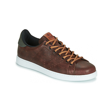 Victoria TENIS PU CONTRASTE men's Shoes (Trainers) in Brown