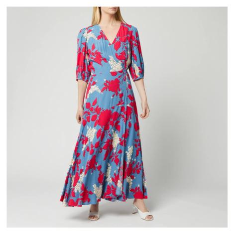 Calvin Klein Women's Print 3/4 Sleeve Wrap Maxi Dress - Multi - UK 12/EU 42