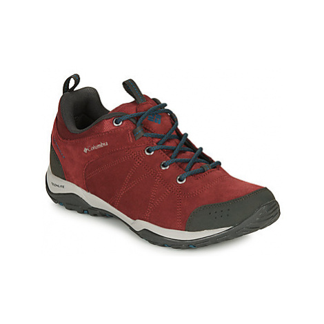 Columbia FIRE VENTURE™ LOW SUEDE WATERPROOF women's Walking Boots in Red