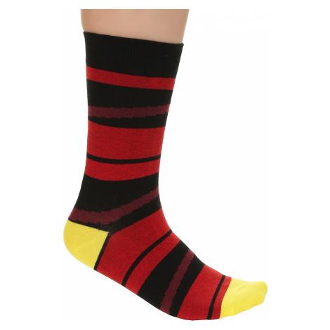 socks Meatfly Stripes - B/Black/Red