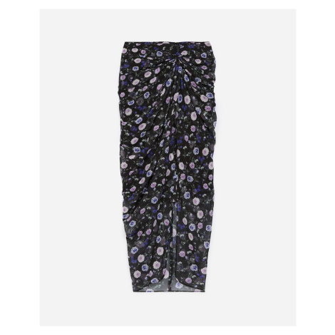 The Kooples - Long silk skirt with motif and buttons - WOMEN