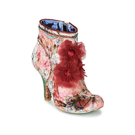 Irregular Choice QUEEN VELVET women's Low Ankle Boots in Red