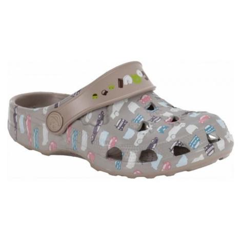 Coqui LITTLE FROG PRINTED beige - Kids' sandals