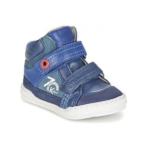 Kickers JINJINU boys's Children's Shoes (High-top Trainers) in Blue