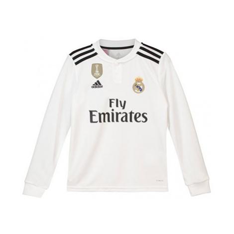 Real Madrid Home Shirt 2018-19 - Long Sleeve - Kids Adidas