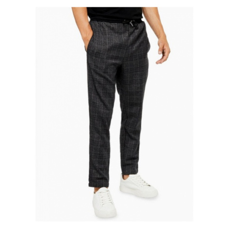 Mens Native Youth Grey Umbra Check Trousers, Grey