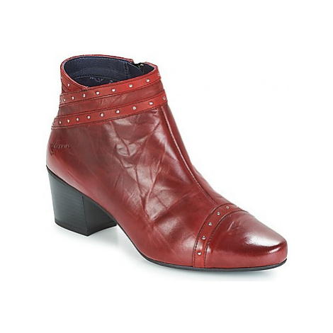 Dorking NIR women's Low Ankle Boots in Red