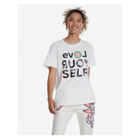 Desigual Love Your Self T-shirt White