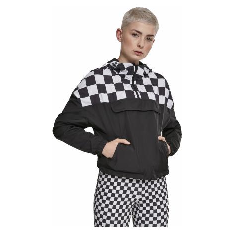 jacket Urban Classics Short Oversize/TB2657 - Black/Chess - women´s