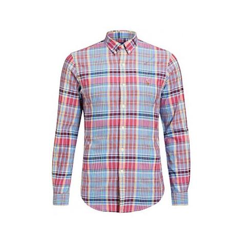 Polo Ralph Lauren Slim Fit Plaid Oxford Shirt, Pink Plaid
