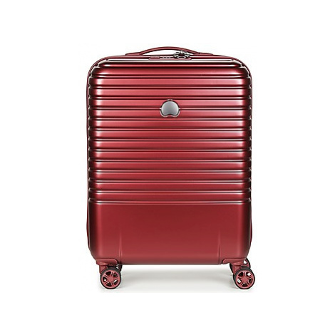 Delsey CAUMARTIN PLUS VALISE TROLLEY CABINE SLIM 4 DOUBLES ROUES 55 CM men's Hard Suitcase in Bo