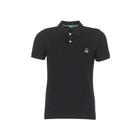 Benetton MADALO men's Polo shirt in Black United Colors of Benetton