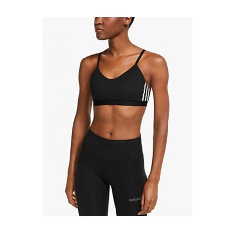Adidas All Me 3-Stripes Sports Bra, Black