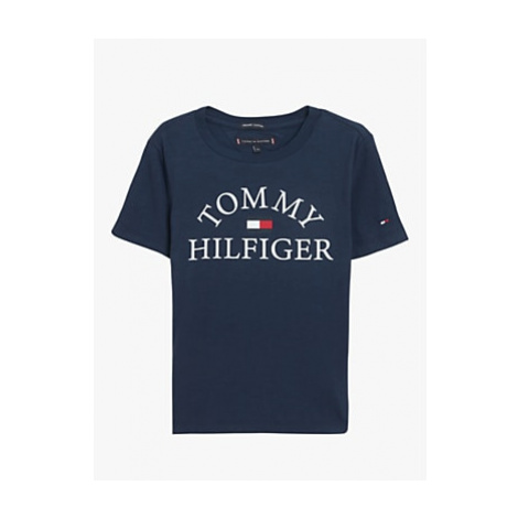 Tommy Hilfiger Boys' Essential Logo T-Shirt, Navy