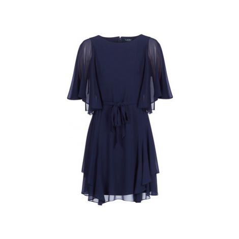 Lauren Ralph Lauren NAVY-3/4 SLEEVE-DAY DRESS women's Dress in Blue