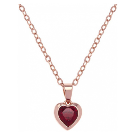 Ladies Ted Baker Rose Gold Plated Crystal Heart Necklace
