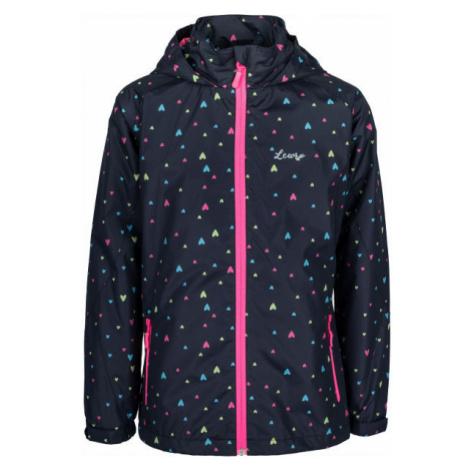 Lewro OFIRA black - Girls' nylon jacket