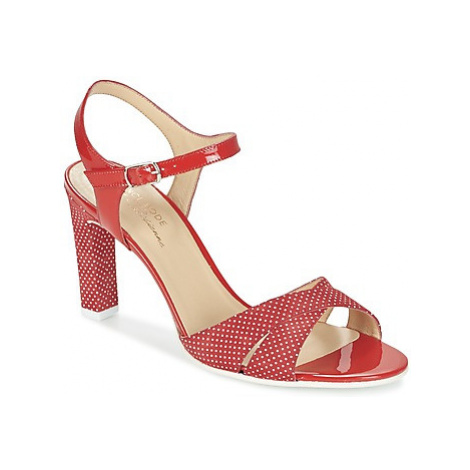 France Mode ZEN women's Sandals in Red