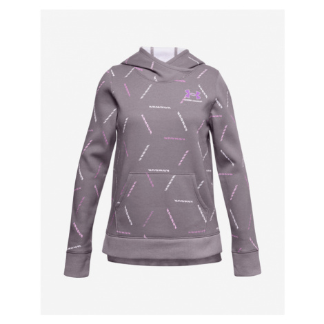 Under Armour Rival Fleece Printed Kids Sweatshirt Violet