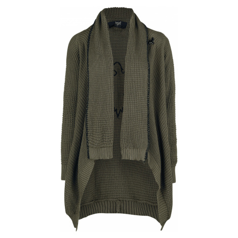 Black Premium by EMP - Fall From Grace - Girls' cardigan - olive