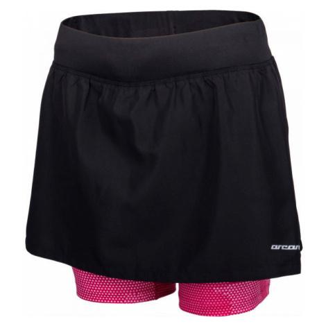 Arcore ARIANA black - Women's running shorts with skirt