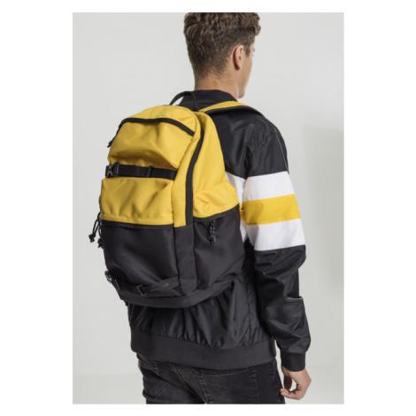Urban Classics Backpack Colourblocking chrome yellow/black/black