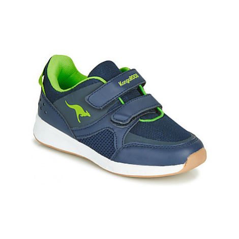 Kangaroos COURTY V boys's Children's Shoes (Trainers) in Blue
