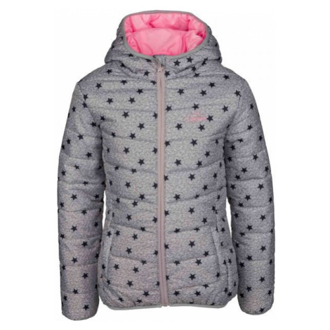 Lewro LIBERTAD grey - Girls' quilted jacket