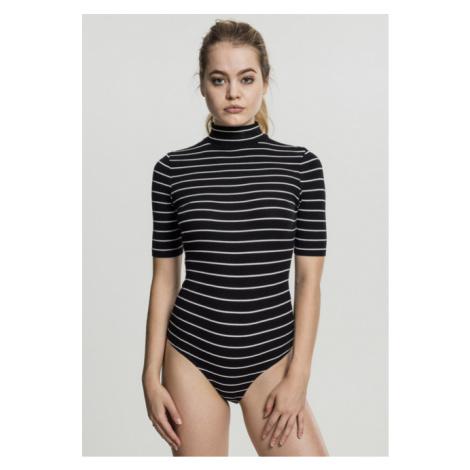 Urban Classics Ladies Striped Turtleneck Body black/white