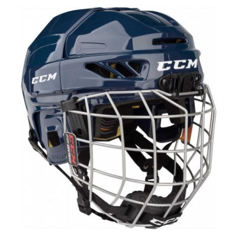 CCM FITLITE 3DS COMBO YT blue - Kids' hockey helmet