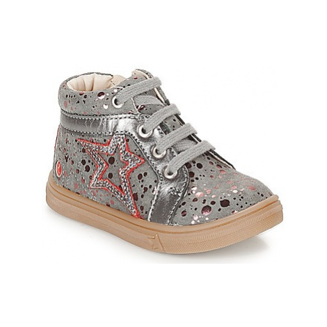 GBB NAVETTE girls's Children's Shoes (High-top Trainers) in Grey