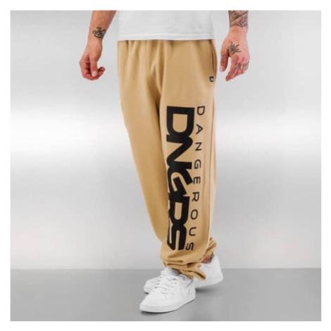 Dangerous DNGRS Classic Sweat Pants Beige/Black