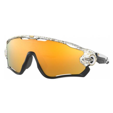 Oakley Men's White Jawbreaker™ Metallic Splatter Collection Sunglasses