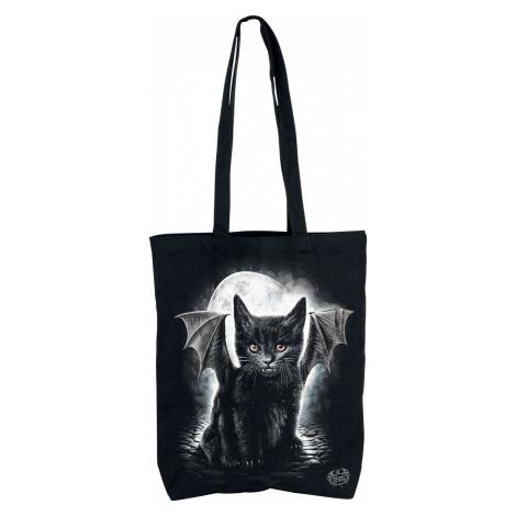 Spiral - Bat Cat - Canvas Bag - black
