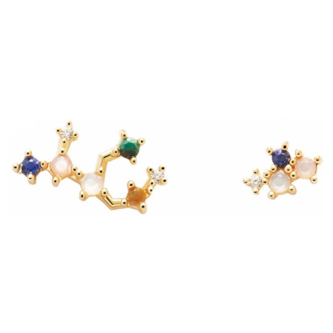 P D PAOLA Gold Plated Virgo Constellation Earrings