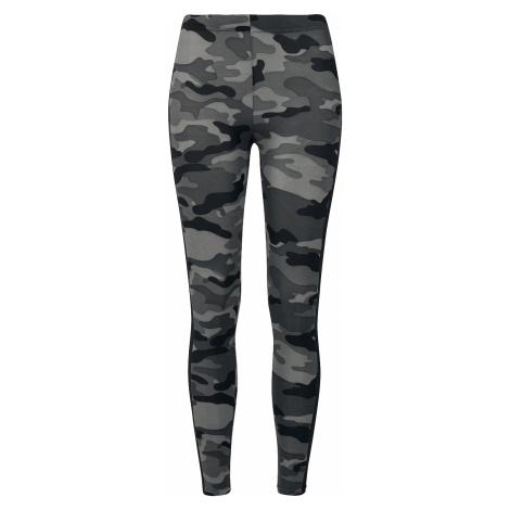 Urban Classics - Ladies Camo Stripe Leggings - Leggings - dark camo/black