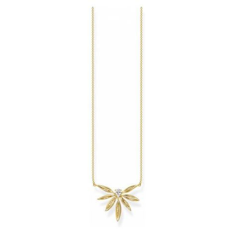 Thomas Sabo Magic Garden Gold Leaf Necklace