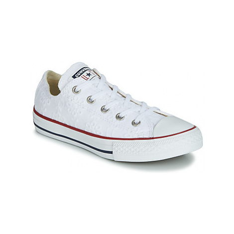 Converse CHUCK TAYLOR ALL STAR BROADERIE ANGLIAS OX girls's Children's Shoes (Trainers) in White