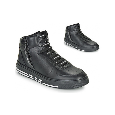 Emporio Armani X4Z083-XM052-R124 men's Shoes (High-top Trainers) in Black