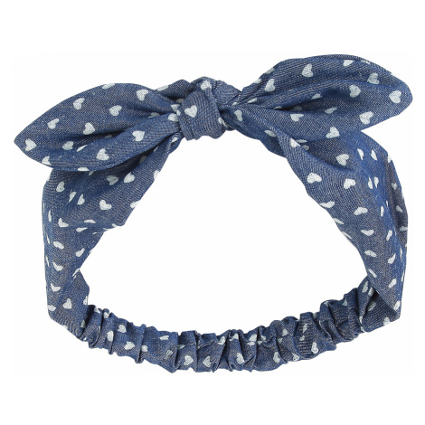 Banned - Heart Bow - Hairband - blue-white
